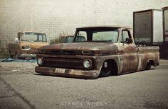 STREET MACHINERY'S 1966 CHEVY C10 PICKUP#Rvinyl: Pinning the #BestofStance #SlammedWhips!
