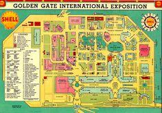 1939 San Francisco California World's Fair - The Golden Gate International Expo on Treasure Island.