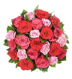Rose Elegance This elegant bouquet is one of our most romantic flower arrangements. We have combined 24 roses in 3 different colours...success guaranteed!. Rose Elegance.