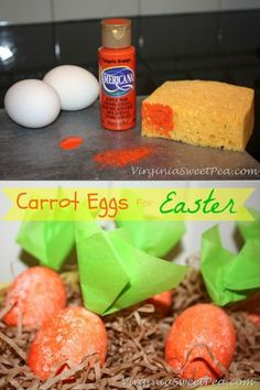 Go for a different look when decorating your Easter eggs this year and create these adorable carrot eggs