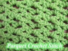 Share this: This Free Crochet pattern teaches how to crochet the Parquet Crochet Stitch. This is a simple lacy mesh stitch. Find more crochet stitches here on the category Crochet Stitches. Crochet Crafts, Hand Crochet, Free Crochet, Knit Crochet, Afghan Crochet, Left Handed Crochet, Stitch Patterns, Crochet Patterns, Beginner Crochet Tutorial