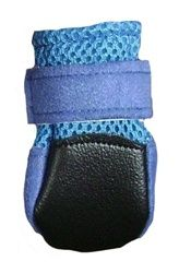 $15.99 Mini Meshies by Barko Booties - Blue (small breed) - back view