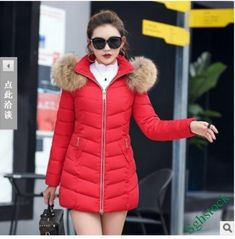 ca035a1d772 Sweet Ladies Faux Fur Hooded Slim Fit Cotton Blend Thick Parka Coat Warm  New #fashion