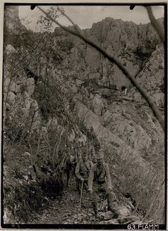WWI; Austro-Hungarian troops descending Mt Sabotino on the Isonzo for an 8 day rest before going back. -Pike Grey 1914-1918 (@PikeGrey1418) | Twitter