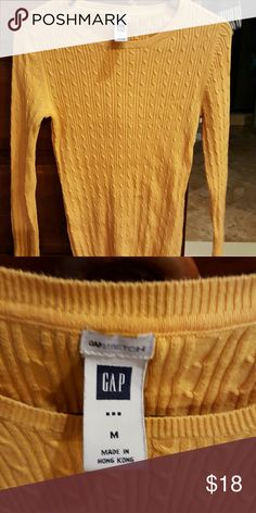 Gap yellow sweater Buttery and soft yellow cable knit sweater. 45 ...