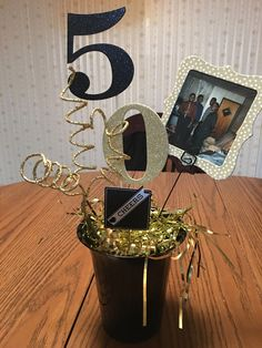 Black and Gold Birthday Centerpiece Black and Gold B. - - Black and Gold Birthday Centerpiece Black and Gold B. Black and Gold Birthday Centerpiece Black and Gold Birthday Centerpiece - 50th Birthday Party Ideas For Men, Moms 50th Birthday, 50th Birthday Cards, 90th Birthday Parties, Gold Birthday Party, 50th Party, Geek Birthday, Gold Party, Birthday Cake