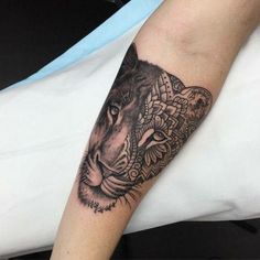 Lioness. placement: left thigh