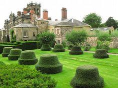 Cherry Orchard,Biddulph Grange Garden Victorian Castle, Victorian Gardens, Topiary Garden, Topiaries, National Trust, National Parks, Biddulph Grange Gardens, English Garden Design, Garden Sculptures