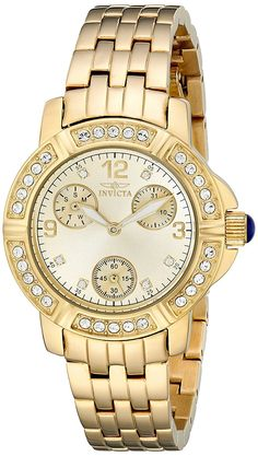 Invicta Women's 18964 Angel Analog Display Japanese Quartz Gold Watch *** Find out more about the great product at the image link.