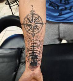 sailor ship tattoos compass