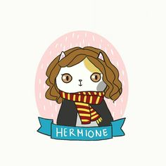 Hermione 💜  #harrypotter #hermione #catlover #cutedrawing #drawings #doodle #windalee #dailydoodle #princess #fantasy #fairytale #illustrations #cartoon