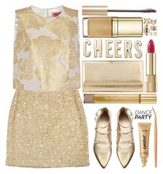 """Dance Party!"" by grozdana-v ❤ liked on Polyvore featuring Kate Spade, Chi Chi, Jimmy Choo, Stuart Weitzman, tarte, Dolce&Gabbana, Boohoo, Burberry, Kevyn Aucoin and danceparty"