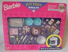 Barbie Fun Fixin Baking Set NIB 1997 | eBay
