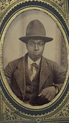 Vintage-Antique-African-American-Tintype-Photo                              …