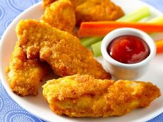 Ultimate Chicken Fingers- Bisquick, parmesean, garlic powder, paprika salt. Mix those ingredients together, dunk chicken tenders in some egg and into the bisquick mixture and onto a cookie sheet. Spray with Pam and bake at 450 until crispy!