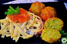 Veganana: Almôndegas de Grão de Bico com Molho de Tomates
