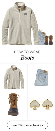"""Patagonia and Duck boots"" by meljordrum on Polyvore featuring мода, Abercrombie & Fitch, Sperry Top-Sider, Patagonia, Kate Spade, women's clothing, women's fashion, women, female и woman"