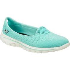 ea490e909a5 SKECHERS Go Walk 2-axis Womens Size 10 Blue Mesh Walking Shoes 1078 for  sale online