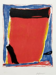 Untitled abstraction by Jose Guerrero, color aquatint Hard Edge Painting, Action Painting, Abstract Expressionism, Abstract Art, Post Painterly Abstraction, Francis Picabia, Colour Field, Wassily Kandinsky, Op Art
