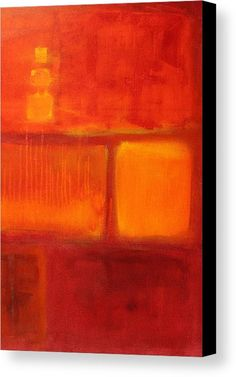 Red Canvas Print featuring the painting Color Study Red by Nancy Merkle