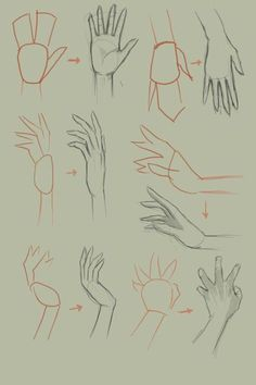 How to draw hand, basic drawing tutorial. Basic Drawing, Drawing Lessons, Drawing Techniques, Drawing Tips, Painting & Drawing, Drawing Hands, Basics Of Drawing, Drawing Ideas, Drawing Poses