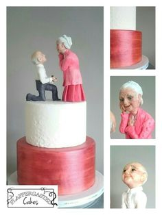 Old love never dies. Oude liefde roest niet. Topper fully sculpted by hand. By Flappergasted Cakes