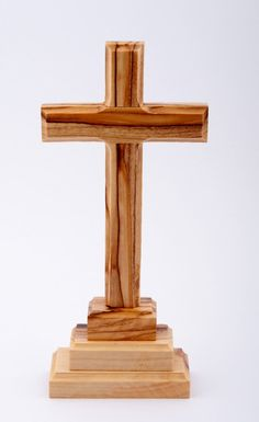Wood Standing Cross. 15cms.Wooden Cross. Cross Made from Wood. Holy Land Cross. Olive Wood Cross form Holy Land.