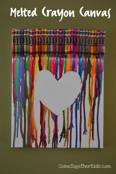 Come Together Kids: Melted Crayon Canvas