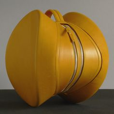 Yellow Leather Bag by Laura Amstein