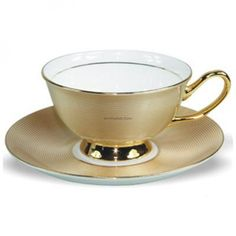 Gold Thread Vintage Tea Cup And Saucer Set