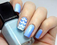 Brit Nails: Zigzag Gradient
