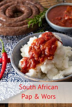 Beating the budget has never tasted so good. All you need is pap, boerewors, tomato & onion gravy, and you're done. No wonder it's a South African favourite. South African Braai, South African Dishes, South African Recipes, Ethnic Recipes, Indian Recipes, Braai Recipes, Dinner Recipes, Cooking Recipes, Healthy Recipes