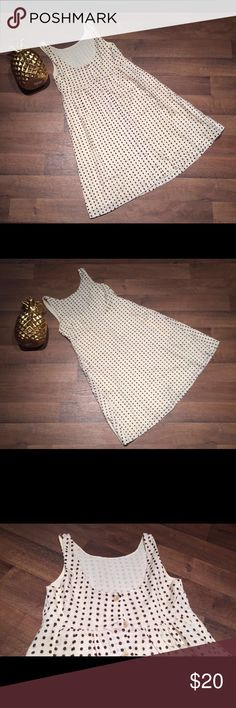 """J Crew Women's Polka Dot Button Up Dress J Crew Brown and Cream Polka Dot Sleeveless Button up Dress.   35 1/2"""" - Length from Shoulder to Hem 14 1/2"""" - Armpit to Armpit   If you have any question, message me. J Crew Dresses"""