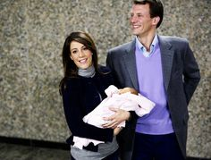 "princesswheresyourcrown:  ""Leaving the Hospital With Newborns Spam  Prince Joachim and Princess Marie with Princess Athena of Denmark  Athena was born on January 24, 2012 and they left the hospital on January 27, 2012  22/28  """