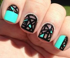 stained glass nail polish