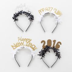 NYE Headband Pack   Brit + Co. Shop   DIY Online classes, DIY kits and creative products from makers you'll love.
