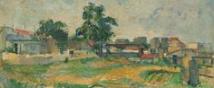 NGA open access paintings. detail Paul Cézanne Landscape near Paris (1963.10.1031)