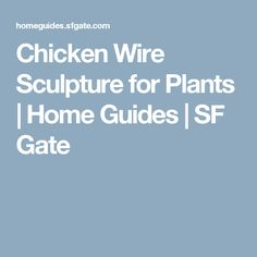 Chicken Wire Sculpture for Plants | Home Guides | SF Gate