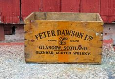 Vintage Peter Dawson Ltd. Glasgow,Scotland Blended Scotch Whisky Wooden Crate,Julius Wile Sons & Co Inc. New York, Michigan State Seals Att. by Incredibletreasures on Etsy