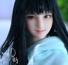 萌音 : and Rey works Inner Child, Beautiful Dolls, Barbie, Costume, Paint, Heart, Face, Ideas, Cute Dolls