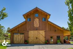 This monitor barn kit outside Seattle, Washington was designed by DC Structures as a one-of-a-kind custom workshop.