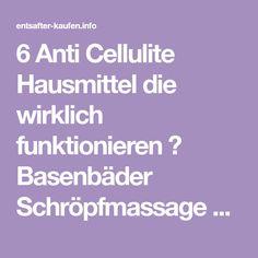 6 Anti Cellulite Hausmittel die wirklich funktionieren ❤ Basenbäder Schröpfmassage und Wechselduschen ❤ Das hilft wirklich bei Cellulite ❤
