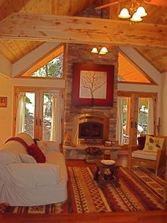 Open Concept Lodge-style Great Room - Living Room Designs - Decorating Ideas - HGTV Rate My Space