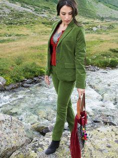 "#Cord #Blazer #moosgrün ""Cala"" by Brigitte von Boch #bevonboch"