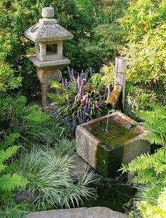 'Japanese Water Feature' by Steven Nicolaides Japanese Garden Landscape, Small Japanese Garden, Japanese Garden Design, Japanese Gardens, Zen Garden Design, Garden Art, Landscape Design, Garden Fountains, Water Fountains