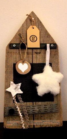 Ander Prik-, Krijt-, Magneetbord van oude steigerhouten planken