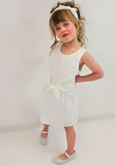 Aoife in Chloe girls dress & headband. With Mini Melissa shoes. From  Designerchildrens... #chloe #designerkids #designerclothes #luxurykids #kidsclothes #girlsclothes #modelkids #fun #summer #dress #chic #style #kidsblog #chloekids