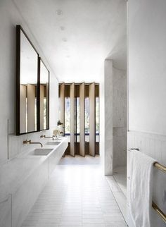 Brass bathroom fixtures #interiordesign | Houseandhomme.tumblr.com