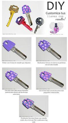 Toxic Vanity: DIY : Customiza tus llaves con esmalte de uñas