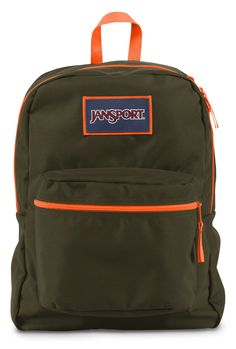 d2971fe101 Amazon.com  JanSport Overexposed Backpack (AQUA DASH FLUORESCENT RED)   Sports   Outdoors
